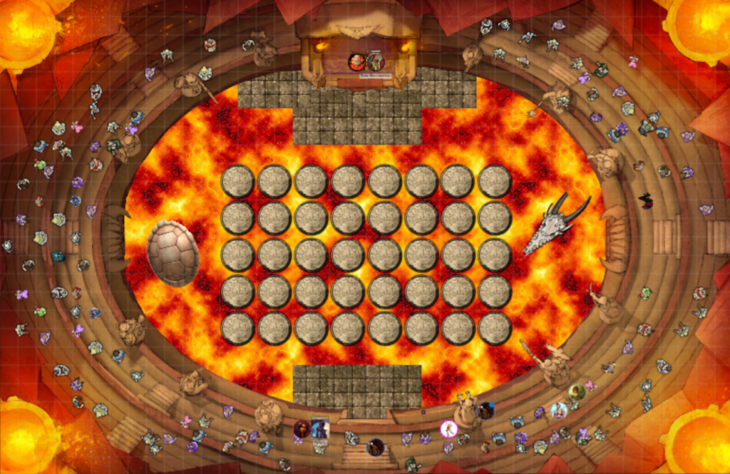 The Fire Arena Map