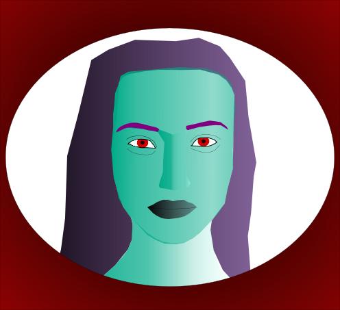 A portrait of Veradundia, Goddess of shame.